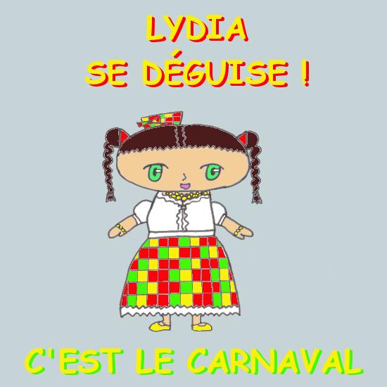 Lydia se déguise - Titre
