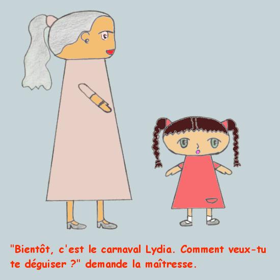Lydia se déguise - Quel déguisement ?